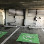 Electric vehicle chargers on P1
