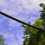 One of the hanging bridges in Canyon Sainte-Anne in Quebec.