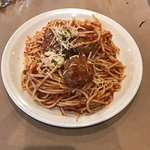 spaghetti with meatballs