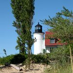 View of Point Betsie Lighthouse from beach.