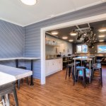 Fully Equipped brand new kitchen with lots of seating area.