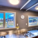 Fully Equipped brand new kitchen with lots of seating area and amazing view while cooking.