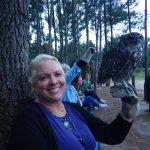 Me holding a beautiful owl.
