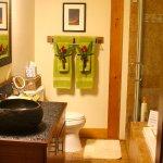 Luxurious bathroom with heated floor