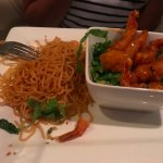 Noodles were salty and dry, the prawns were tasty however