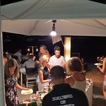 Salad tent on beach. You paid for grilled meat, and got salad, rice etc free. All you can eat.