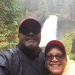 Enjoying Sahalie Falls