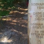Marker for the Gorham Mountain Trail