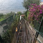 Taken from the tram or funicular. This takes you from the top where reception is to the sea area