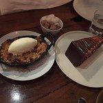 Plum crisp and Salted Carmel Chocolate Cake