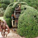 a sculpture at Pearl Fryar Topiary