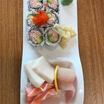 Shashimi and a roll