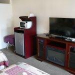 good sized TV and fridge