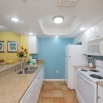 Fully equipped kitchens come standard in a 1- and 2-bedroom villa