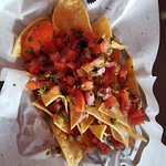 chips and salsa (more like pico de gallo). free with Yelp check in.