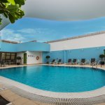 Enjoy our rooftop swimming pool as well as the kids shaded outdoor pool