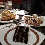 Waffles and cake