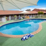 Swimming pool in the courtyard, pool towels available