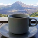 Coffee infront the Volcano