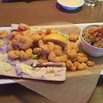 Shrimp Po Boy with Red Beans and Rice
