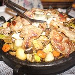Lamb sizzler. Big enough to feed two.
