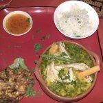 Thai green chicken curry @ Papaya