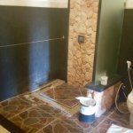 Beautiful bathroom, although shower area floods easily