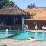 Main pool with swimup bar