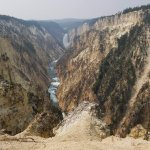 Grand Canyon of Yellowstone, South Rim (with wildfire haze)