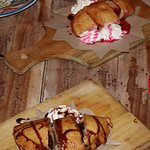 Chocolate and strawberry panzerotti