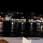 Night time view of harbour from La Bodega.