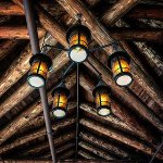 Example of the gorgeous rustic architecture at Glacier Park Lodge.