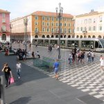 Place Massena & passing tram