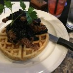 Quail on waffle, juice meat and a waffle so tender and yummy!