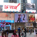 Billboards with advertising going on on a 24 hour basis-day and night