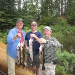 Olson Party from Wisconsin fishing in Quetico Park