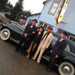Hotel Proprietor and his 1947 Packard Limo ride to fine dining