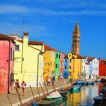 The leaning steeple of Burano.