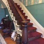 Impressive staircase and bannister in hallway