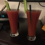 Complimentary bloody mary's upon arrival, a nice surprise.