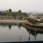 View of Red Lion Inn and Pt Angeles from tower on pier