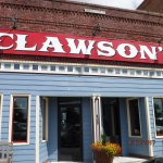 The front of Clawsons from the street
