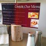 The menu at Dildo Cove Coffee