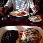 Our breakfast. Baked Beef Machaca Chilaquiles and hubby had The Union Station. Yummy!!!