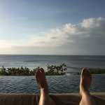 AYANA cliffside infinity pool view