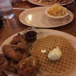 The best chicken and waffles!