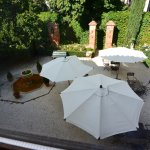 View of patio from room at Casa de Tepa.