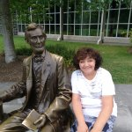 Outside the Gettysburg Museum (next to Abe!)
