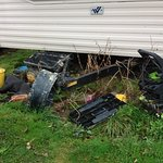Rubbish behind the caravan next to ours.