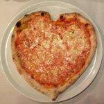prima pizza cuore per mia figlia